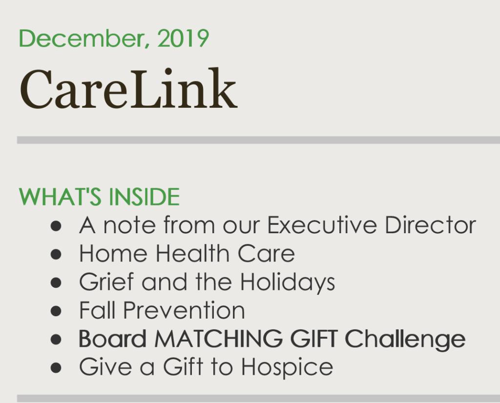 CareLink Newsletter December 2019