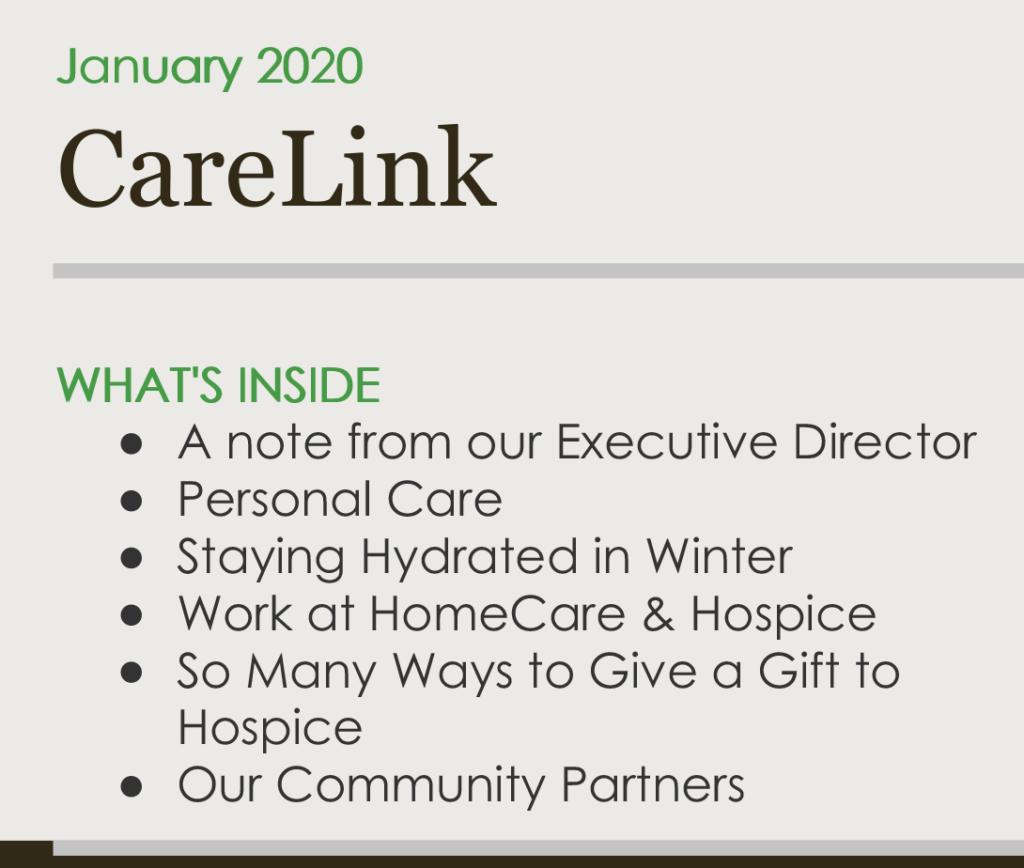 CareLink Newsletter Jan 2020